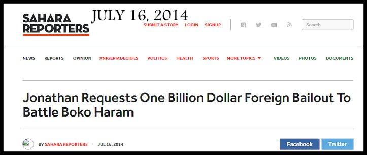 GEJ ONE BILLION BH REQUEST