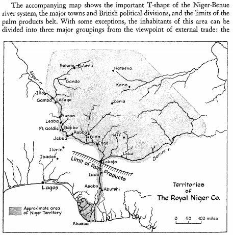 ROYAL NIGER COMPANY MAP
