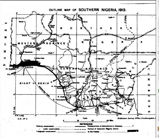 SOUTHERN NAIJA MAP 1913